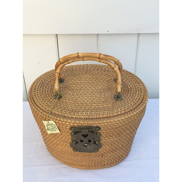 1950s Woven Basket Purse - Image 7 of 8