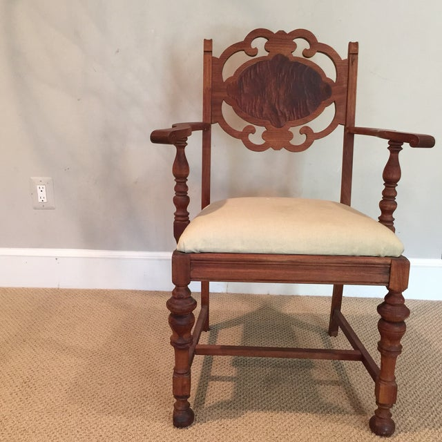 Carved Mahogany Armchair - Image 11 of 11