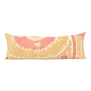 Early 20th Century Uzbek Faded Suzani Pillow For Sale