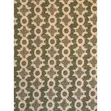 "Image of Sister Parish Design Linen Fabric ""Clara B"" in Green - 1 2/8 Yards For Sale"