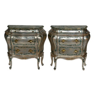 Hand Painted Italian-Style Commodes - Pair For Sale