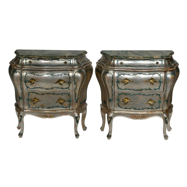 Hand Painted Italian-Style Commodes - Pair - Image 1 of 6