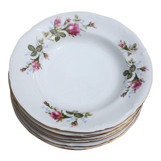 Vintage Rose Pattern Grandmillenial Style Soup Bowls by Chodziez of Poland - Set of 6 For Sale