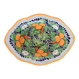 Handmade Talavera Pottery Serving Bowl For Sale