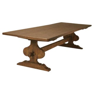 Italian Trestle Dining Table For Sale
