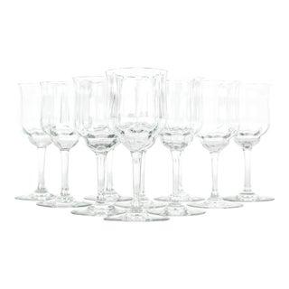 Vintage Baccarat Crystal Wine Glassware Set For Sale