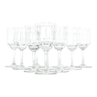 Vintage Baccarat Crystal Wine Glassware - Set of 10 For Sale
