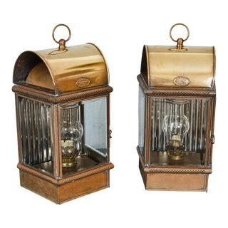 Pair of Victorian Gas Lamp Lanterns