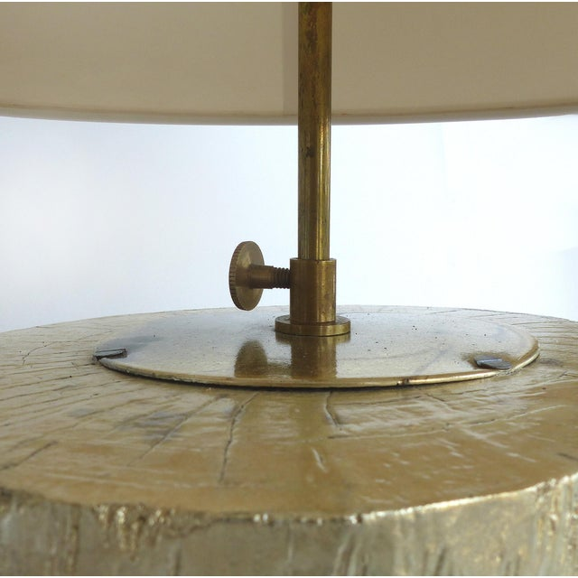 Silver Leaf and Giltwood Table Lamp For Sale In Miami - Image 6 of 9