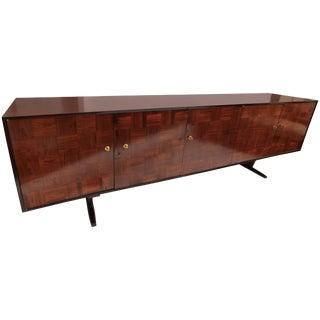 Scapinelli 1960s Brazilian Jacaranda Parquet Sideboard For Sale