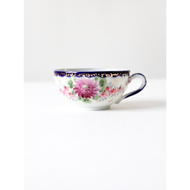 Farmhouse Antique Tea Cup With Gilt For Sale - Image 3 of 10