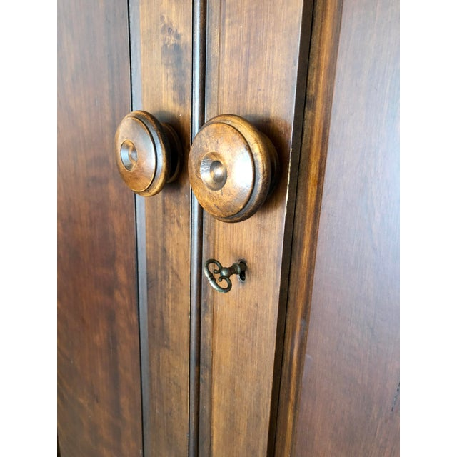 1990s Jim Peed for Romweber Rustic Hardwood Armoire For Sale - Image 5 of 13