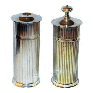 Mid-Century Christofle Silverplate Salt & Pepper Shakers For Sale