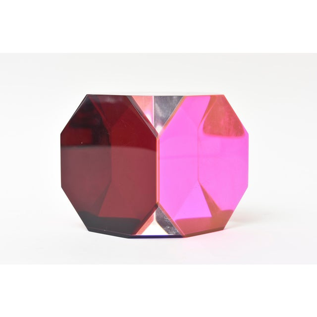 2000 - 2009 Vasa Mihich Laminated Lucite Octagonal Table Sculpture Signed and Dated For Sale - Image 5 of 8