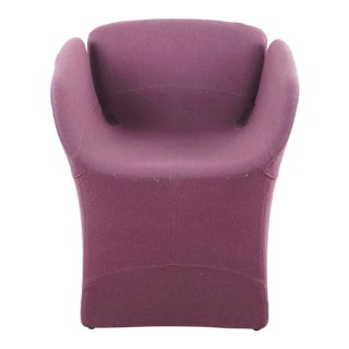 Mid-Century Purple Upholstered Armchair