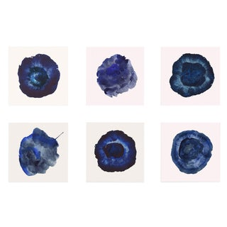 Abstract Blue Unframed Prints - Set of 6 For Sale