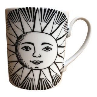 "Fornasetti Milano ""Sole"" Sun Ceramic Coffee Mug For Sale"
