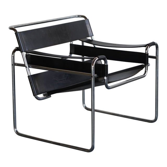 Mid 20th Century Wassily Chair by Marcel Breuer For Sale