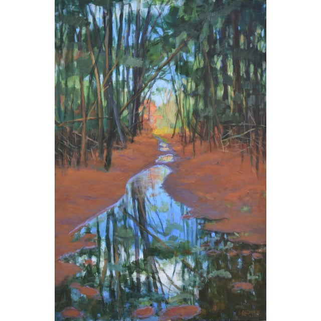 "American ""Standing by Peaceful Waters"" Contemporary Triptych Painting by Stephen Remick - Set of 3 For Sale - Image 3 of 13"