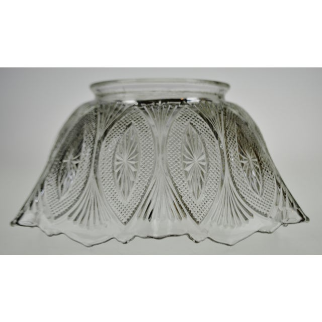 Glass Victorian Style Pressed Glass Gas Light Shade For Sale - Image 7 of 13