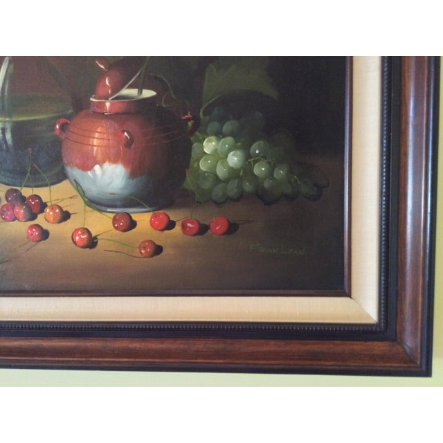 Mid-Century Frank Lean Still Life in Oil For Sale - Image 10 of 13