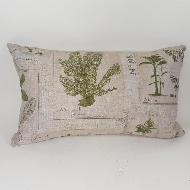 Green Botanical Bolster Pillow For Sale - Image 11 of 11