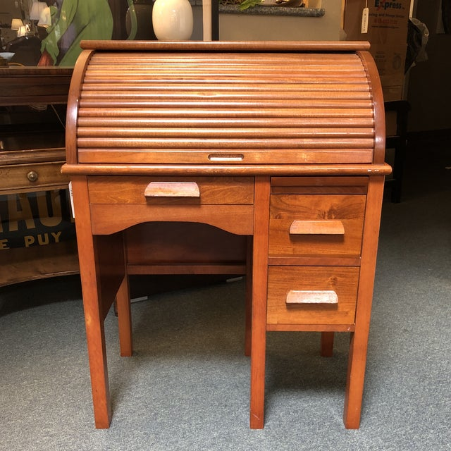 Antique Miniature Roll Top Desk For Sale - Image 11 of 11