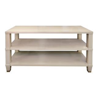 Kindel Furniture Garden Street Multifunctional Console in Brushed Putty For Sale