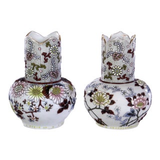 19th Century Japanese Moriage Vases - a Pair For Sale