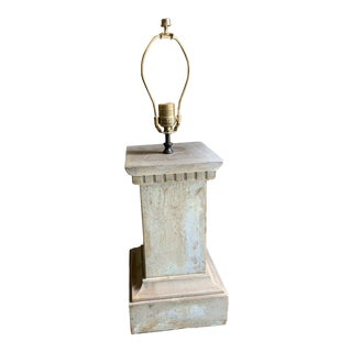 Architctural Stone Lamp Base For Sale