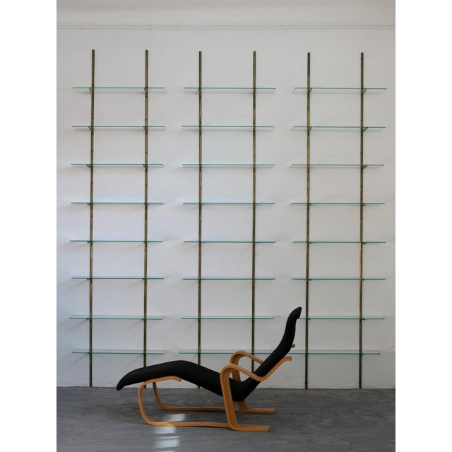 Brass Italian 50s Brass Bookcase For Sale - Image 7 of 9