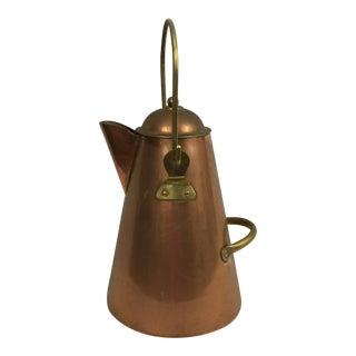Portuguese Copper & Brass Coffee Pot