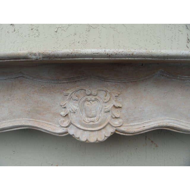 19th Century French Carved Wood Mantel For Sale - Image 4 of 10