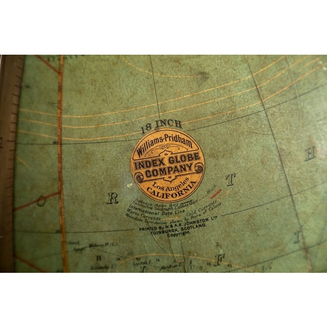 Early 1900's Williams-Pridham Index Globe For Sale - Image 9 of 12