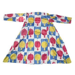Central Asian Silk Ikat Coat For Sale