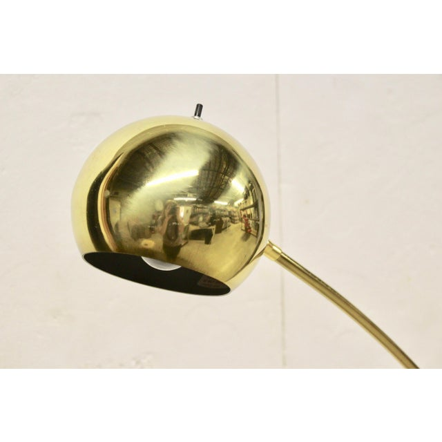 Mid-Century Modern Mid-Century Modern Brass Floor Lamp For Sale - Image 3 of 5