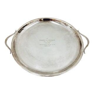 Vintage Silver Trophy Platter