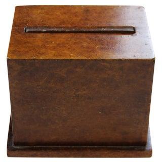 Fab Burlwood Cigarette Dispenser!~ For Sale