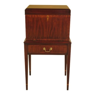 Henkel Harris Inlaid Mahogany Model Silver Chest