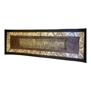 Large African Hand-Woven Paper Wall Art For Sale