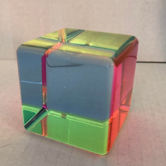 2010s Acrylic Prism Cube by Vasa For Sale - Image 5 of 9
