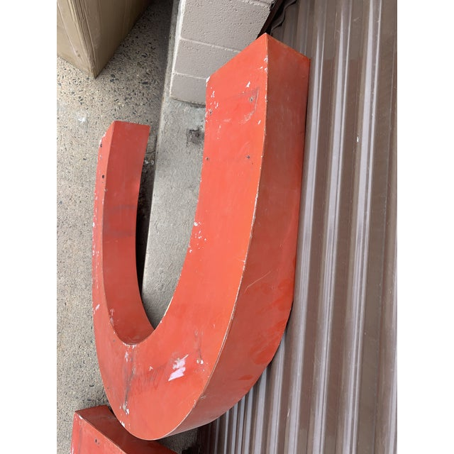 Red Early 20th Century Vintage French Cafe Sign For Sale - Image 8 of 13