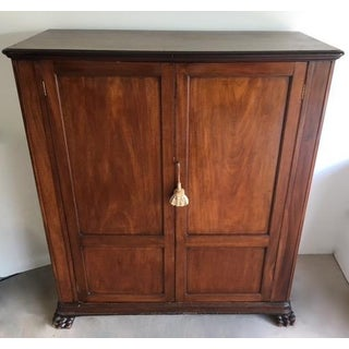 Final Markdown -19th Century English Victorian Walnut Wardrobe in a Louis Philippe Figured Style Preview