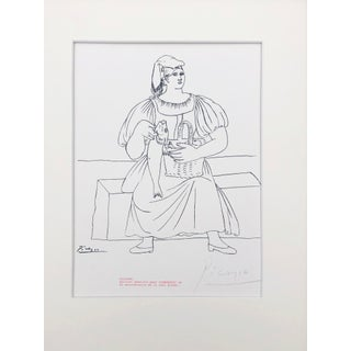 Picasso Pencil Signed Edition Lithograph of a Woman With Fish 1969 Preview