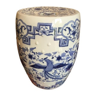 Chinoiserie Ceramic Garden Stool For Sale