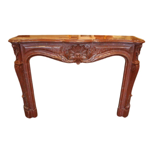 Antique French Louis XV Marble Mantel For Sale