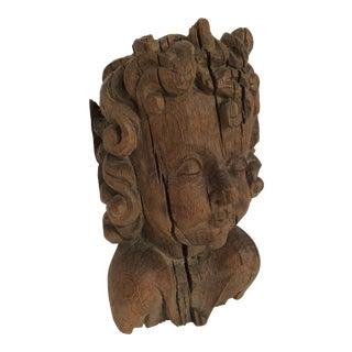 Flemish Carved Oak Cherub Head, 17th Century For Sale