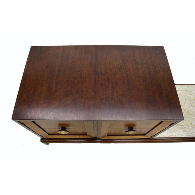 Stone Renzo Rutily Mid-Century Modern Credenza For Sale - Image 7 of 9