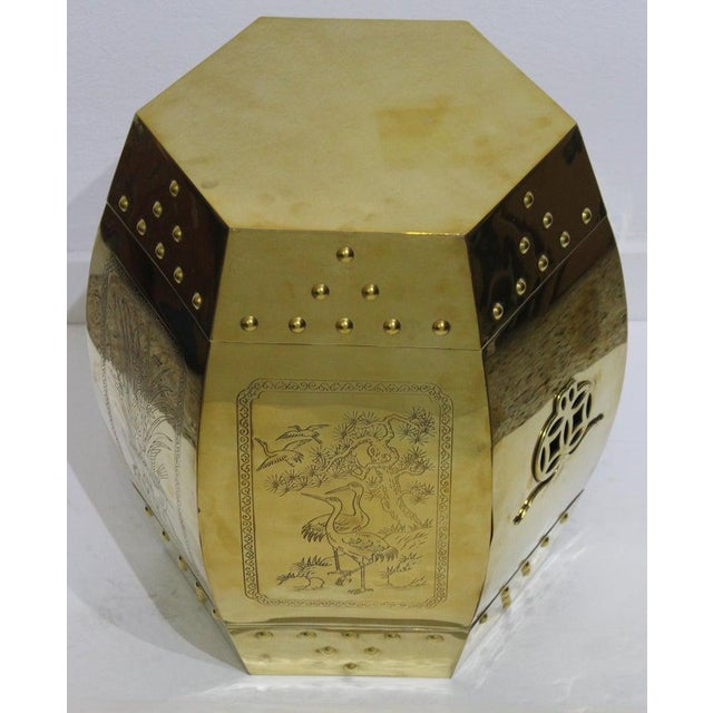 Mid-Century Chinese Brass Garden Seat Stool For Sale - Image 13 of 13