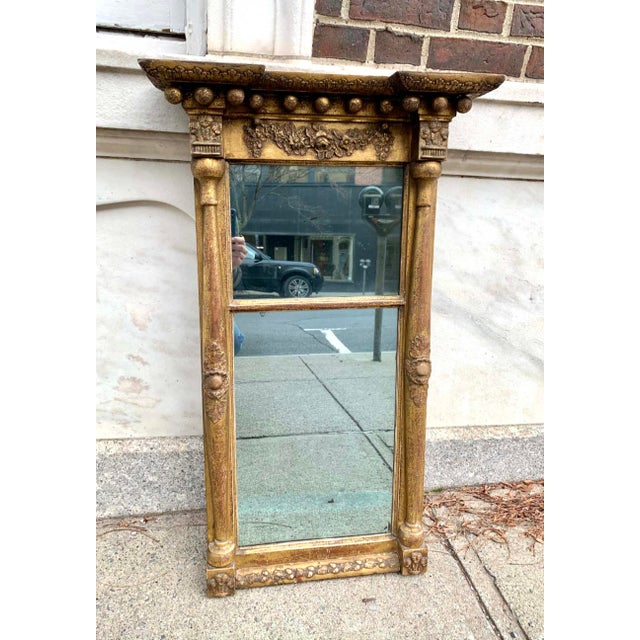 Glass Early 19th C. Gilt Wall Mirror For Sale - Image 7 of 7